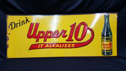 Vintage Drink Upper 10 - It Alkalizes - Rectangular Metal Sign