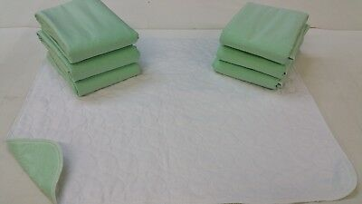 6 NEW BED PADS 34X36 WASHABLE REUSABLE UNDERPAD HOSP GRADE>(2100+ SATISFIED)-USA - New Reusable Bed