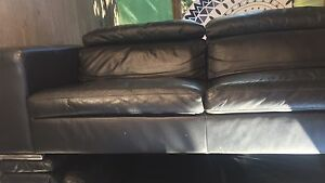 Black Leather Couch Brunswick Heads Byron Area Preview