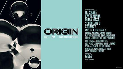 2017 Origin NYE ticket