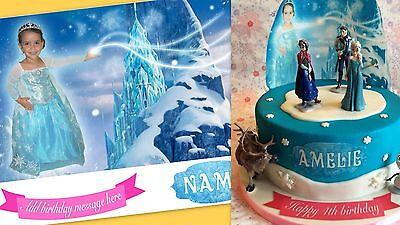 alised ELSA photo cake topper, great for birthday cakes (Disney Frozen Cake Topper)