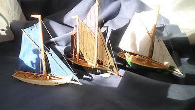 Segelschiff, Segelboot, 3 Stück! Modell Maritim Holz Dekoration