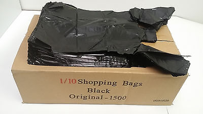 Black Shopping Plastic T-shirt Retail Bag Small Size 110 Quality Wholesale Lot