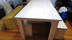 Solid Oak Dining Table & Pews (Collect Only) Waterloo Inner Sydney Preview