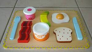 Wooden Breakfast Puzzle Tray + BONUS Suitcase & Play Sandwich! Beaudesert Ipswich South Preview