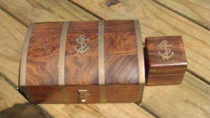 Maritime themed wood & brass boxes Baldivis Rockingham Area Preview