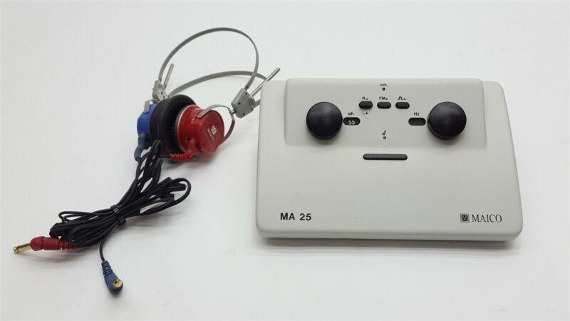 Maico MA-25 MA25 Portable Audiometer Hearing Test Tester+Headphones
