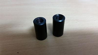 2pcs Trapezoidal Nut Tr12x3 Pom-c Delrin Size 19x30 Black Cnc