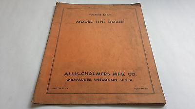 Allis-chalmers Parts List Model 11hi Dozer