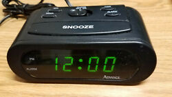 Advance alarm clock green dislay model 3143wx