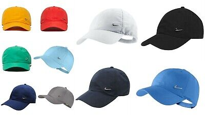 Nike Mens--Juniors  Metal Swoosh Cap Baseball Hat Nike Logo Adjustable Running