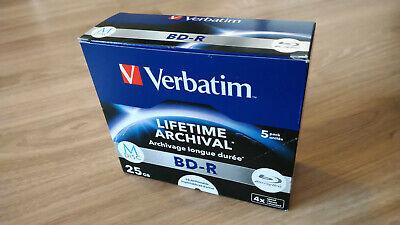 5 Stk Verbatim M-Disc BD-R 25GB NEU