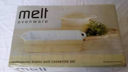 Rectangular bake and casserole set Airds Campbelltown Area Preview