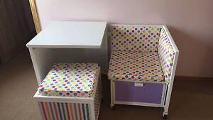 Little MisMatch Desk and storage cube