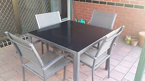 Five piece outdoor setting with glass top table Ashford West Torrens Area Preview