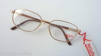Brillen eckige Titanbrille Männer gold klassisch Federbügel Brillenfassung Gr. M
