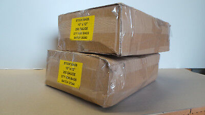 Clear Plastic Heavy Duty 250 Guage Stock Bags 10