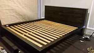 Wooden king size bed frame Springfield Lakes Ipswich City Preview