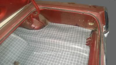 1968 1969 Mercury Montego CONVERTIBLE RUBBER TRUNK MAT Plaid 68 (Mercury Montego Convertible)