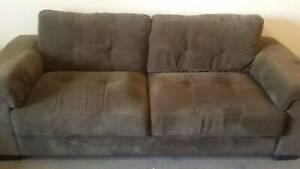 Must go this weekend!! Chocolate brown 3 seater and 2 seater sofa