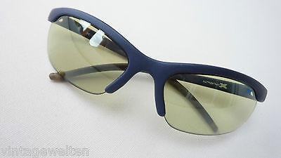 Brand X Sportbrille blaue Sonnenbrille leichte Tönung Nylor mit Steckbügel Gr. L