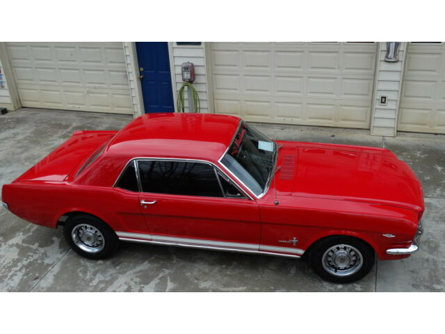 Ford : Mustang 1965 mustang 289 engine automatic bright red