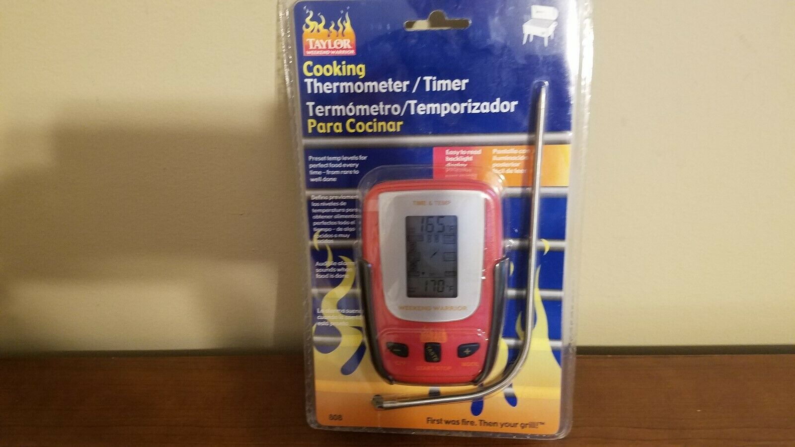 New Taylor Weekend Warrior Digital Cooking Thermometer Timer