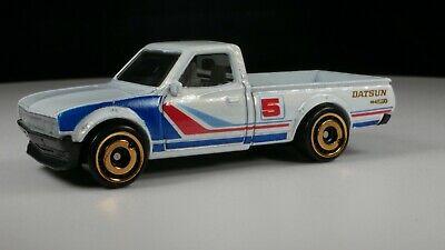 Hot Wheels Datsun 620 White Pickup Truck HW GRFX LOGO # 5 RACING BEDLINER