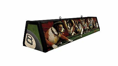 SALE !!  DOGS PLAYING POOL, Back lit Pool Table Light