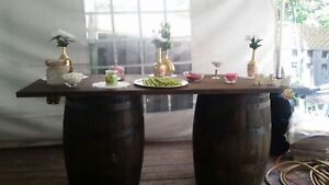 WINE BARRELS AND BAR!! For sale! Decor, weddings, etc