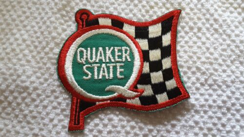 Quaker State Motor Oil Waving Checkered Flag Racing Souvenir Embroidered Patch