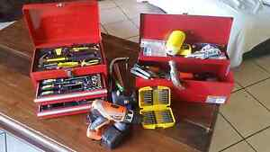 TOOLBOXES X 2 WITH ALL TOOLS INCLD. DRILL, AIR COMPRESSOR&.MORE Broadbeach Gold Coast City Preview