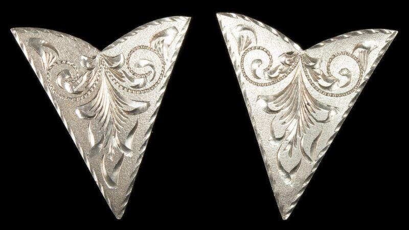 VINTAGE Plata de Jalisco COLLAR Tips Sterling Silver V.H.L.C Guad Mex
