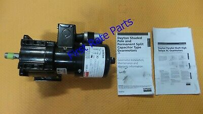 Dayton 4Z521 Gearmotor Gear Motor AC 23:1 Ratio 115/230 TEFC Parallel Shaft 70