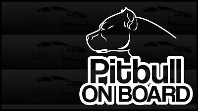 Pitbull On Board Dog Car Window Sticker Decal Canine Love Canis Lupus Familiaris