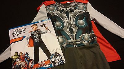 Red Jumpsuit Halloween Costume (Boys Halloween Costume S Size Small 6 Avengers Assemble Thor Jumpsuit & Red)