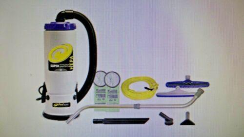 ProTeam 6 Qt. Super QuarterVac HEPA Backpack Vac w/ Wand Kit 107098 107108 -NEW-