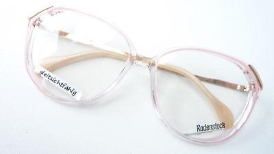 Damenbrille Brillengestelle klar rosafarben mit großen Gläsern Rodenstock Gr. M