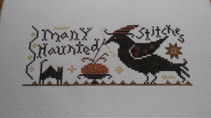 "Completed Cross Stitch "" many haunted stitches """