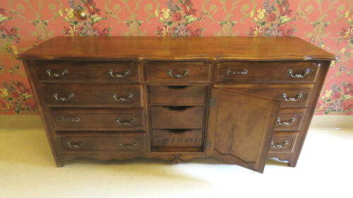 Ethan Allen Country French 12 Drawer 236 Fruitwood Triple Dresser 26 5303  USA