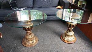 Roman Glass top tables