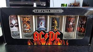 ACDC 6 Tall Glasses/Shooters (New in Box) Taperoo Port Adelaide Area Preview