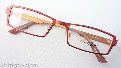 Eckige feuerrote Marken Brille Fassung für Frauen schmale Glasform Grösse M