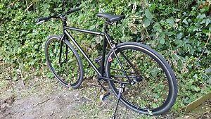 700C BLACK 54cm  FIXED GEAR FIXIE / SINGLE SPEED  BIKE BICYCLE   NEW