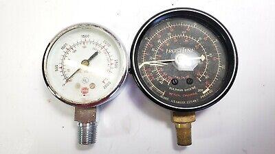 Vintage Usg U.s. Gauge Frost Line Pressure Meter Metal Steam Punk Dial Lot Of 2