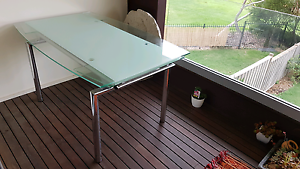 Like New! Rialto Extendable Glass Dining Table Carrum Downs Frankston Area Preview