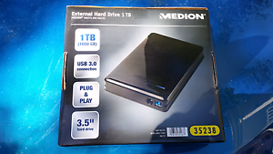 External Hard Drive 1TB Medion Brand Cromer Manly Area Preview