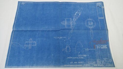 Antique Blueprint Industrial Art Detroit Automotive Ford Motor 1941 #6