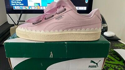 Ladies Puma Leather Basket Trainers Uk Size 6