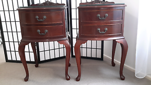 Beautiful vintage Queen Anne style bedside table pair Normanhurst Hornsby Area Preview